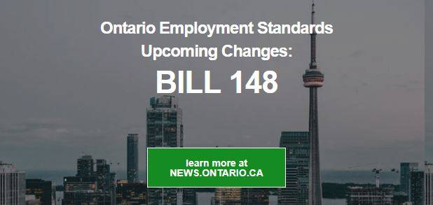Ontario Employment Standards upcoming changes: BILL 148